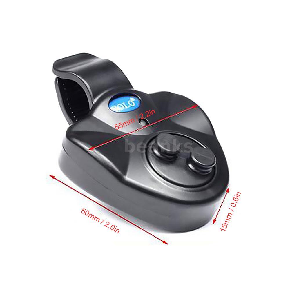 4Stk YOLO LED Elektronisch Bissanzeiger Licht und Ton Bissmelder Angelgerät Y1N9